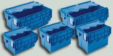 Euronorm lidded crates