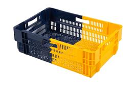 bicolor plastic crates for logistics