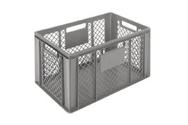 Euronorm stacking containers - grey Euro 600 x 400 mm grey PB-3245