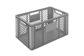 Euronorm stacking containers - grey Euro 600 x 400 mm grey PB-3263