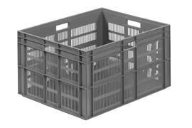 Euronorm stacking containers - grey Euro 800 x 600 mm grey PB-EF8641